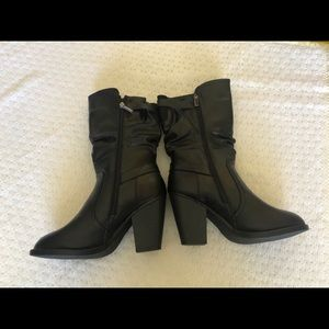 MAURICES Black Mid-Calf Boots Women's Size 10M